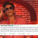 Shah Rukh Khan Breaks Silence on Rumours of His Next YRF Film With Ali Abbas Zafar