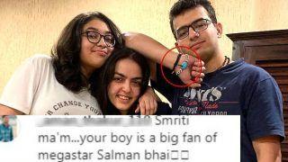 Smriti Irani's Son Zohr Irani is a Salman Khan Fan And This Feroza Bracelet is Proof - Check Viral Picture
