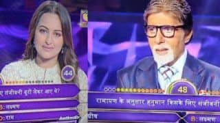 When Amitabh Bachchan Trolled Sonakshi Sinha For Her 'Ramayana'-Goof up on Kaun Banega Crorepati 11