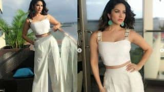 Sunny Leone's Hot Avatar in White Crop Top And Pants is All About Glamorous