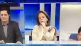 Panelist of Pakistani TV Channel Falls Off Chair During Debate on Kashmir: Watch Video