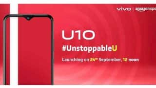 Vivo U10 with 5,000mAh battery, Snapdragon 665 SoC launched in India for Rs 8,990
