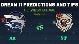 Dream11 Team Amo Sharks vs Speen Ghar Tigers Match 3 Afghanistan T20 League 2019 – Cricket Prediction Tips For Today's T20 Match AS vs ST at Kabul