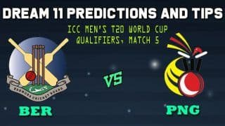 BER vs PNG Dream11 Team Prediction: Captain and Vice Captain For Today Match 5 Group A Group A ICC Men's T20 World Cup Qualifier 2019 between Bermuda vs Papua New Guinea in Dubai at 11:30 AM