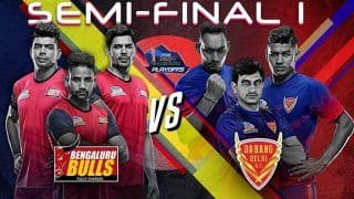 BLR vs DEL Pro Kabaddi League 2019 Semifinal 1, Bengaluru Bulls vs Dabang Delhi K.C. LIVE Streaming: Teams, Time in IST and Where to Watch on TV And Online in India