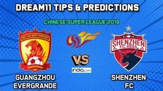 GED vs SHZ Dream11 Team Guangzhou Evergrande vs Shenzhen FC, Chinese Super League 2019– Football Prediction Tips For Today's Match GED vs SHZ at Shenzhen Universiade Sports Centre