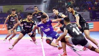 Dream11 Team HYD vs GUJ Pro Kabaddi League 2019 - Kabaddi Prediction Tips For Today's PKL Match 126 Telugu Titans vs Gujarat Fortunegiants at Shaheed Vijay Singh Pathik Sports Complex in Greater Noida