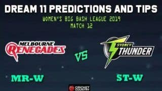 Dream11 Team Prediction Sydney Thunder Women vs Melbourne Renegades Women WBBL: Captain and Vice-Captain For Today, Match 12 Women's Big Bash League Between MR-W vs ST-W at Blacktown International Sportspark in Sydney 1:30 PM IST October 26