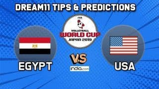 Dream11 Team Egypt vs USA Match 61 FIVB Volleyball Men's World Cup 2019 – Volleyball Prediction Tips For Today's Match EGY vs USA in Hiroshima