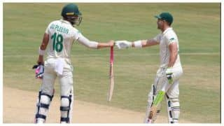 वाइजैग टेस्ट : एल्गर और डु प्लेसिस ने द. अफ्रीकी पारी को संभाला, मेहमान टीम लंच तक 153/4