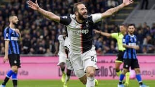 Inter Milan Lose as Gonzalo Higuain Fires Juventus To Top Of Serie A Points Table
