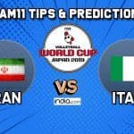 Dream11 Team Iran vs Italy Match 58 FIVB Volleyball Men's World Cup 2019 – Volleyball Prediction Tips For Today's Match IRA vs ITA in Hiroshima at 11:30 AM IST