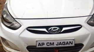 Car With Number Plate Reading 'AP CM Jagan' Seized in Hyderabad