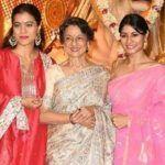 Kajol Kick- Starts Her Durga Puja With Mom Tanuja And Sister Tanishaa, Goes For Pandal Hopping in Mumbai