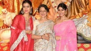Kajol Kick- Starts Her Durga Puja With Mom Tanuja And Sister Tanishaa, Goes For Pandal Hopping in Mumbai