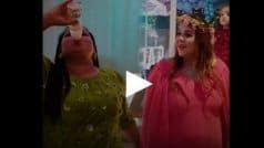 गिनी चतरथ के बेबी शावर में अचानक दूध की बोतल से पानी पीने लगे कृष्णा और भारती