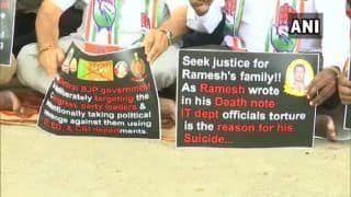 Congress Workers Protest in Bengaluru Against ED & I-Tax Raids on Party Leaders