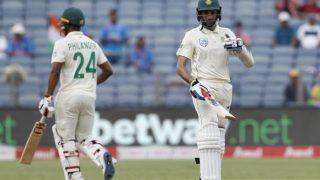 पुणे टेस्ट: भारत की जीत के रास्ते में टिके फिलेंडर-महाराज; टी तक स्कोर 172/7