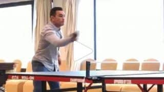 CSK Shares Throwback Video of MS Dhoni Playing Table-Tennis With Dwayne Bravo