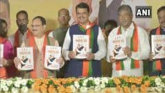 BJP Releases Manifesto For Maharashtra Polls, Demands Bharat Ratna For Savarkar, Phule