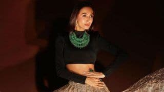 Malaika Arora Looks Smouldering Hot in Black And Golden Lehenga, Pictures go Viral