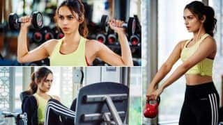 Manushi Chhillar Looks Hot And Sexy as She Sweats Out During Grind And It's The Perfect Dose of Wednesday Motivation
