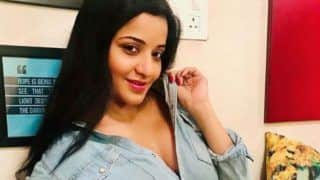 Bhojpuri Hot Bomb Monalisa's Sultry Look in Denim Shirt And Sexy Shorts Will Make You go Crazy - See Pic