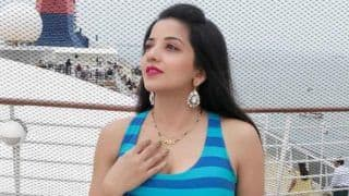 Bhojpuri Hot Bomb Monalisa Looks Stunning in Halter-neck Blue Dress as She Goes on Cruise Ride