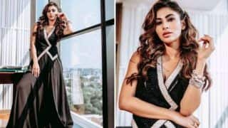 Mouni Roy Looks Sizzling Hot in Black Maxi Dress And Waist Coat For Made in China Promotions