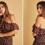 Bollywood Hotness Mouni Roy Sizzles up in Halterneck Cold Shoulder Dress For Made in China Promotions