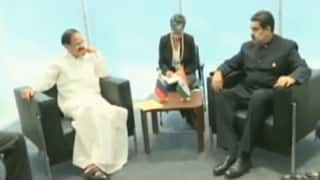Venkaiah Naidu Holds Discussions With Venezuelan President on Sidelines of NAM Summit