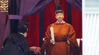 Japan's Emperor Naruhito Proclaims His Ascension to Chrysanthemum Throne