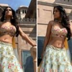 Nia Sharma Looks Uber Hot in Green Floral Lehenga as She Flaunts Her Perfectly Toned Curves