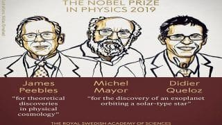 Nobel Prize in Physics 2019 Awarded to James Peebles, Michel Mayor And Didier Queloz