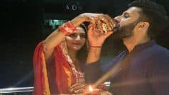 After Durga Puja, Nusrat Jahan Celebrates First Karwa Chauth With Husband Nikhil Jain | See Pictures