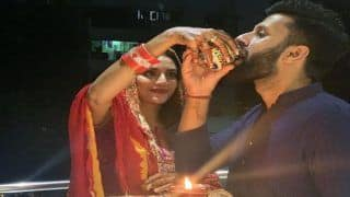 After Durga Puja, 'God's Special Child' Nusrat Jahan Celebrates First Karwa Chauth With Husband Nikhil Jain   See Pictures