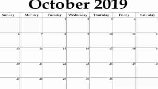 October 2019: Click Here to Know Dates, Holidays And Other Crucial Occasions