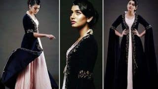 Malayalam Hottie Priya Prakash Varrier Looks Like Royal Princess in Pink Gown And Blue Cape Jacket, Calls Herself Princess Consuela