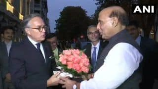 'Bonjour Paris': Rajnath Arrives in France to Receive 1st Rafale Jet, Shastra Puja And Meeting With Macron on Cards| Key Points