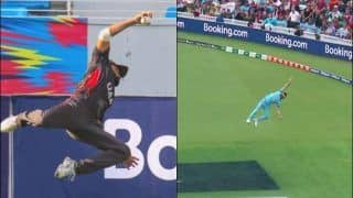 Rameez Shahzad Does a Ben Stokes, Takes a One-Handed Blinder During ICC T20 World Cup Qualifier Between UAE-Scotland | WATCH VIDEO