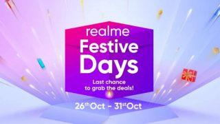 Realme Festive Days Sale एक बार फिर हुई शुरू, दिवाली पर सस्ते मिल रहे हैं रियलमी स्मार्टफोन