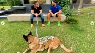 Rishabh Pant Spends Time With Idol MS Dhoni at His Home in Ranchi, Shares Pictures