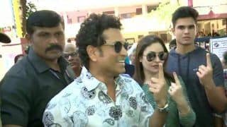 Maharashtra Polls: Sachin Tendulkar Casts His Vote With Wife Anjali, Son Arjun