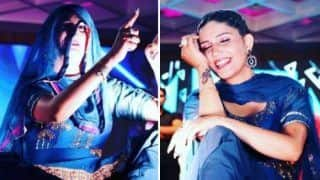 Haryanvi Sizzling Dancer Sapna Choudhary Flaunts Her Hot Thumkas on 'Tere Bol Raselee Marjani' During Stage Performance