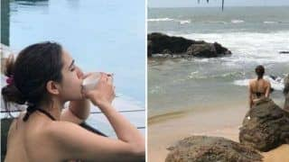 Sara Ali Khan Looks Smoking Hot in Bikini as She Takes Dip in The Pool During Sri Lanka Vacay