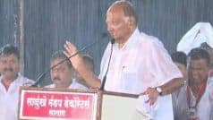 Maharashtra Polls: Drenched in Rain, Sharad Pawar Admits NCP's 'Mistake' in Satara; Wins Praise on Twitter