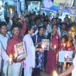 Telangana: RTC Employees Hold Candlelight March Over Death of TSRTC Driver