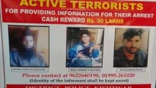 'Wanted - Dead or Alive': J&K Police Announce Rs 30 Lakh Cash Reward For Information on 3 Hizbul Mujahideen Terrorists
