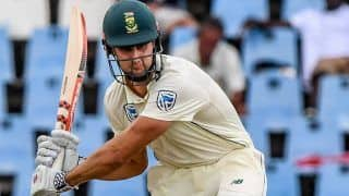 India vs South Africa 2019: Theunis de Bruyn Replaces Dean Elgar in 3rd Test in Ranchi, Comes in as Concussion Substitute