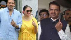 Assembly Elections 2019: नेताओं समेत बॉलीवुड हस्तियों ने भी डाला वोट, देखें फोटोज